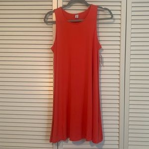 NWT Old Navy Coral/Orange Swing Jersey Tank Dress